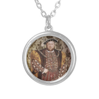 Henry VIII Silver Plated Necklace