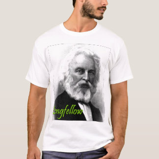 Henry Wadsworth Longfellow Etching T-Shirt
