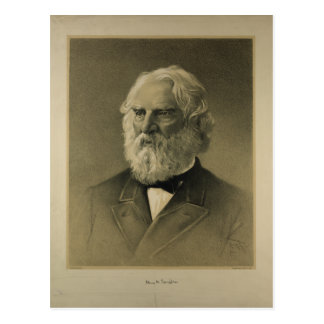 Henry Wadsworth Longfellow Portrait (1888) Postcard