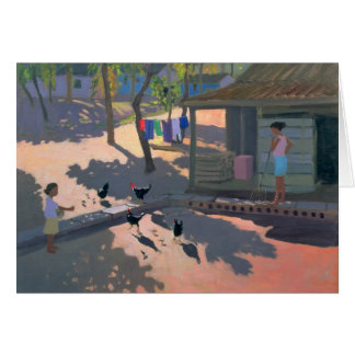 Hens and Chickens Cuba 1997 Card
