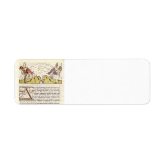 Heorhiy Narbut-How mice buried the cat Custom Return Address Labels