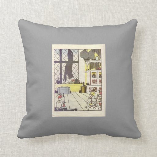 Heorhiy Narbut-How mice buried the cat Throw Pillows