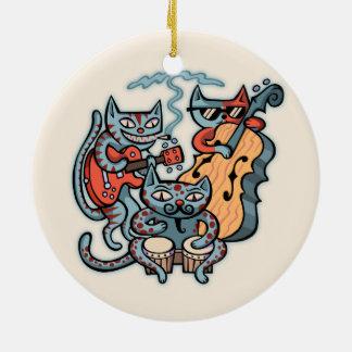 Hep Cat Band Ceramic Ornament