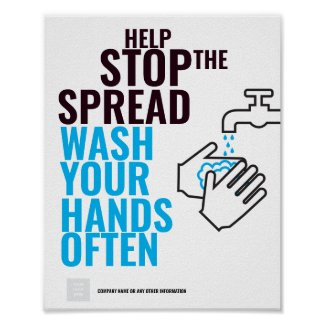 HEP STOP THE SPREAD HAND WASH Poster
