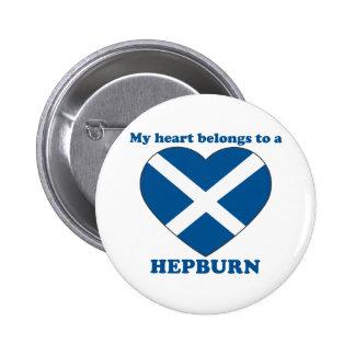 Hepburn 2 Inch Round Button