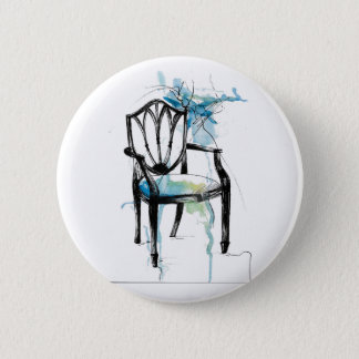 Hepplewhite Chair - Watercolor 2 Inch Round Button