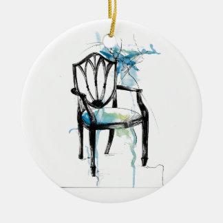 Hepplewhite Chair - Watercolor Ceramic Ornament