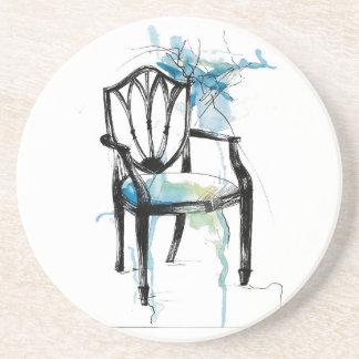 Hepplewhite Chair - Watercolor Coaster
