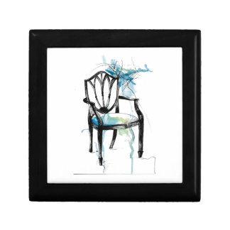 Hepplewhite Chair - Watercolor Gift Box