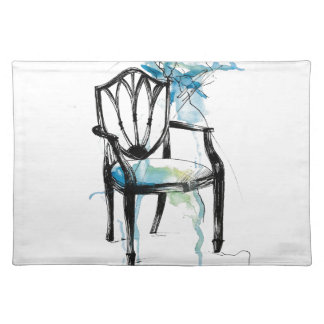 Hepplewhite Chair - Watercolor Placemat