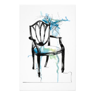 Hepplewhite Chair - Watercolor Stationery