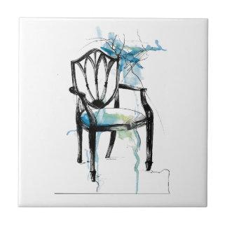 Hepplewhite Chair - Watercolor Tile