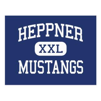 Heppner - Mustangs - High School - Heppner Oregon Postcard