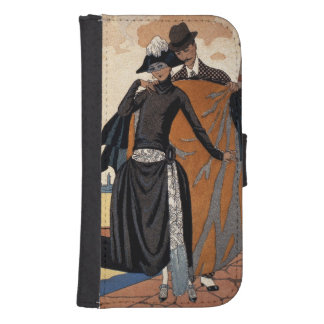 Her and Him, Fashion Illustration, 1921 (pochoir p Samsung S4 Wallet Case