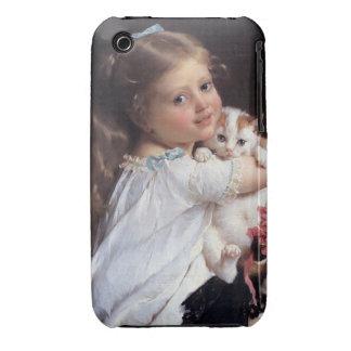 Her Best Friend | Little Girl With Kitten iPhone 3 Case-Mate Case