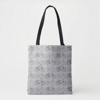 Her Bike Pattern Tote Bag