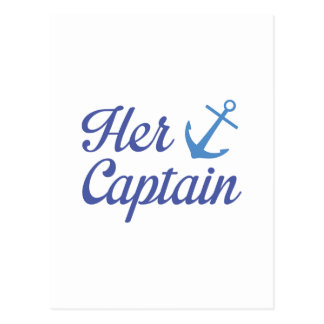 Her Captain Postcard