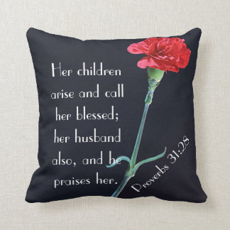 her children arise and call her blessed throw pillow
