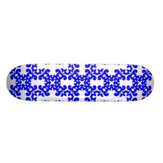 Her Cute Girly Style Blue & White Damask Girls Custom Skateboard