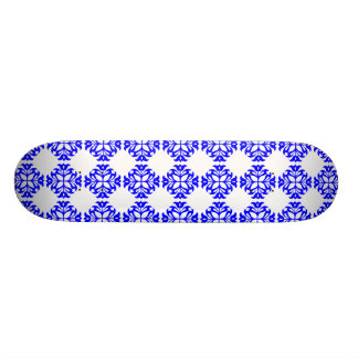 Her Cute Girly Style Blue & White Damask Girls Skate Board Decks