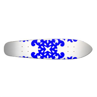 Her Cute Girly Style Blue White Damask Girls Skateboards