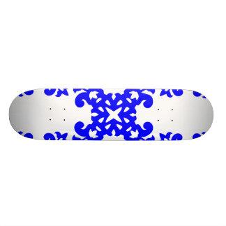 Her Cute Girly Style Blue & White Damask Girls Skate Decks