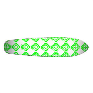 Her Cute Girly Style Lime White Damask Girls Skate Boards