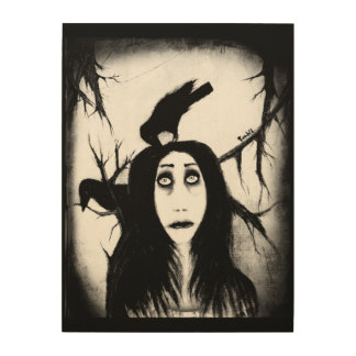 Her eyes so innocent... on hallowed ground. wood canvas
