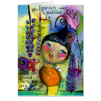 Her Garden Was A Magical Place 5x7 Greeting Card