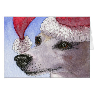Her Holiday Hat - whippet Card
