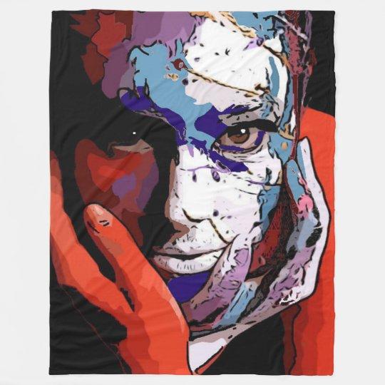 Her in painting Fleece Blanket