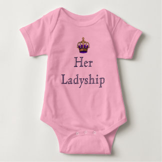 Her Ladyship Lady of the Manor New Baby Baby Bodysuit