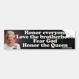 Her Majesty The Queen Bumper Sticker