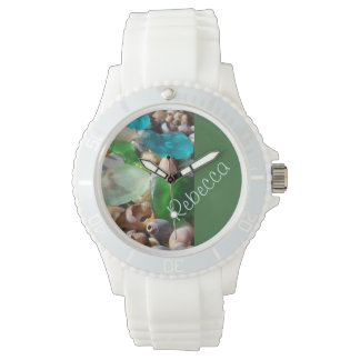 Her Name watches Personalize Seaglass Coastal