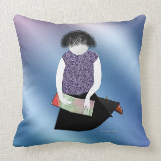 Her Picture Book Throw Pillow