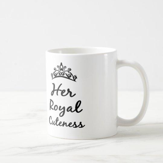 her royal cuteness princess coffee or tea mug