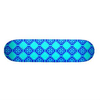 Her Vintage Girly Style Blue & Cyan Damask 4 Girls Skate Board Deck
