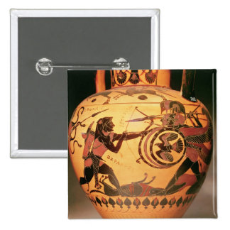 Heracles fighting Geryon 2 Inch Square Button
