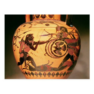 Heracles fighting Geryon Postcard