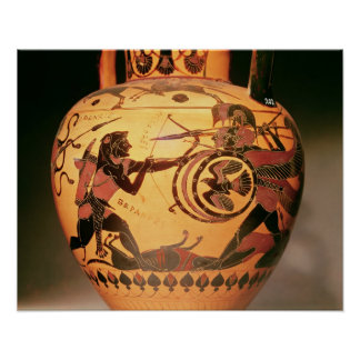 Heracles fighting Geryon Poster