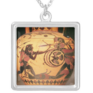 Heracles fighting Geryon Silver Plated Necklace