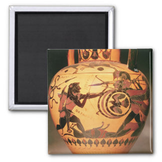 Heracles fighting Geryon Square Magnet