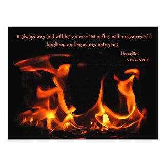 Heraclitus Everlasting Fire Photo Print