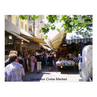 Heraklion Crete Market Postcard