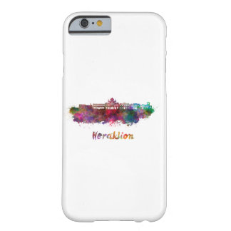 Heraklion skyline in watercolor barely there iPhone 6 case