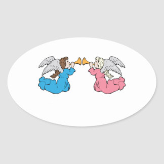 Herald Angels Oval Stickers