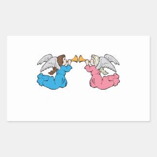 Herald Angels Rectangle Sticker