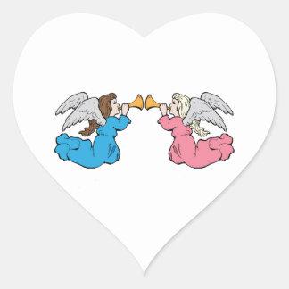 Herald Angels Heart Sticker