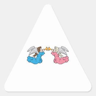 Herald Angels Triangle Sticker