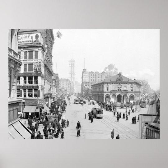 Herald Square, New York, 1905 Poster
